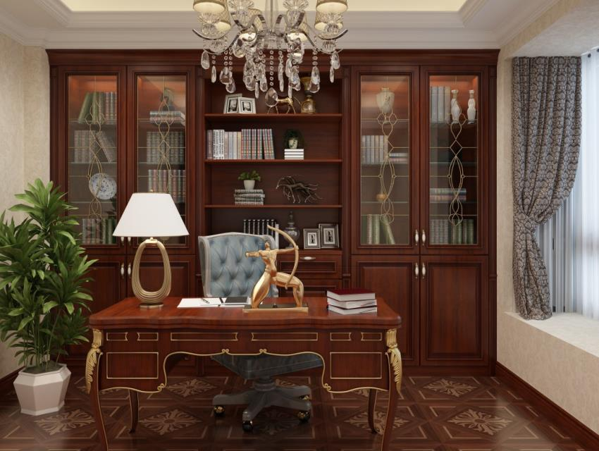 北美风格书柜书桌13